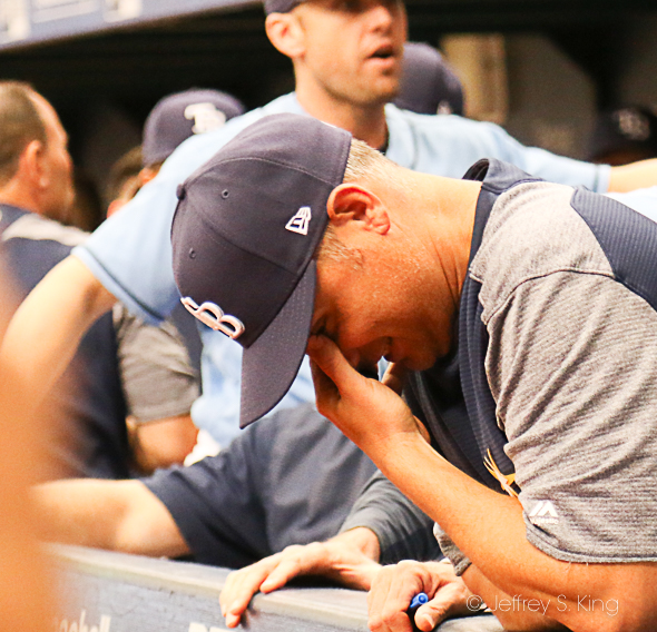 Sometimes, it's tough for Cash to watch the Rays./CARMEN MANDATO