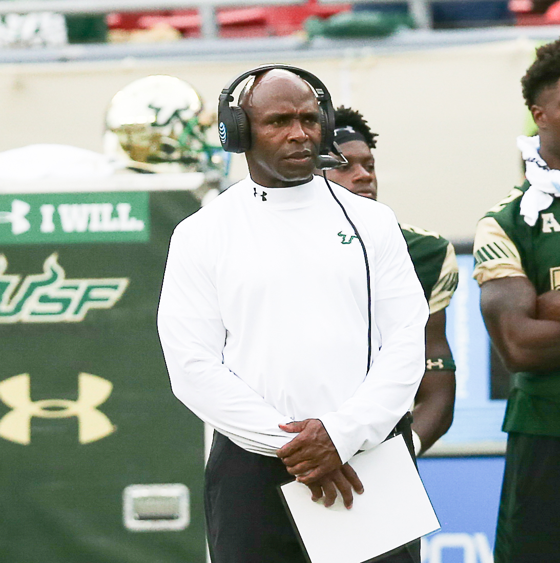 Charlie Strong hopes his USF team can break out./JEFFREY S. KING