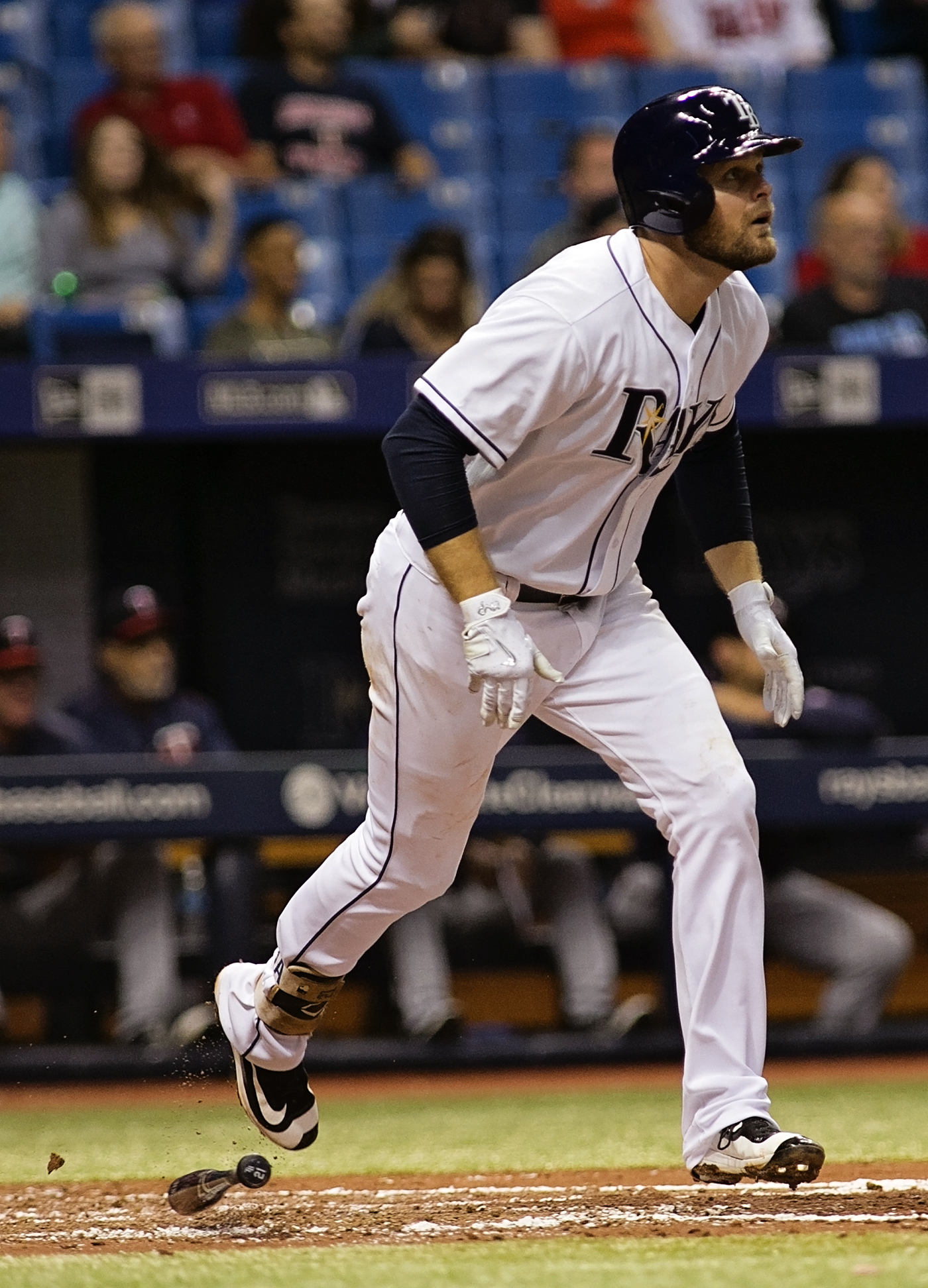 Lucas Duda had a three-run homer for the Rays./CARMEN MANDATO