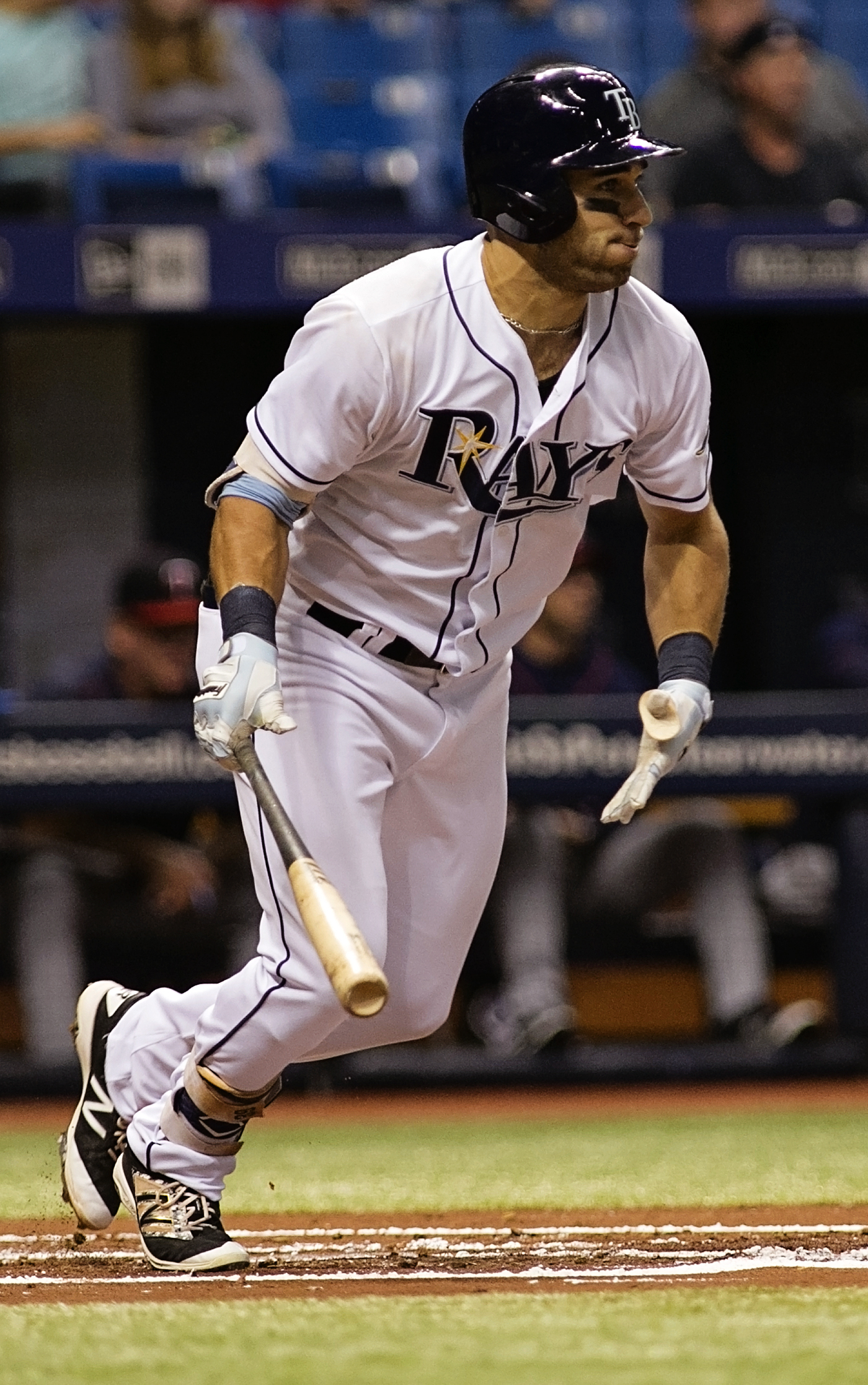 Kiermaier tied the game with a two-run homer./CARMEN MANDATO