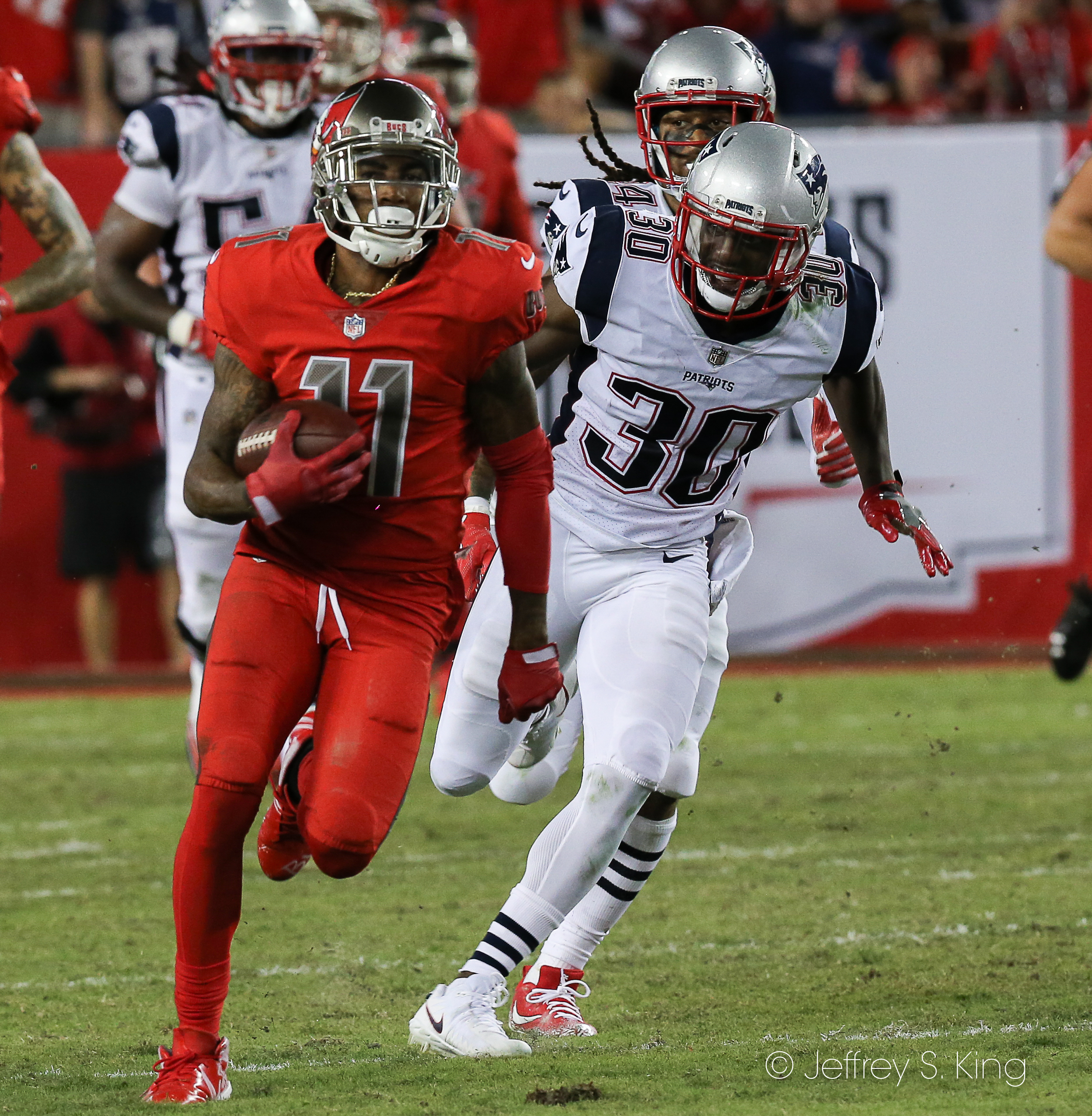 Jackson caught five passes for 106 yards./JEFFREY S. KING