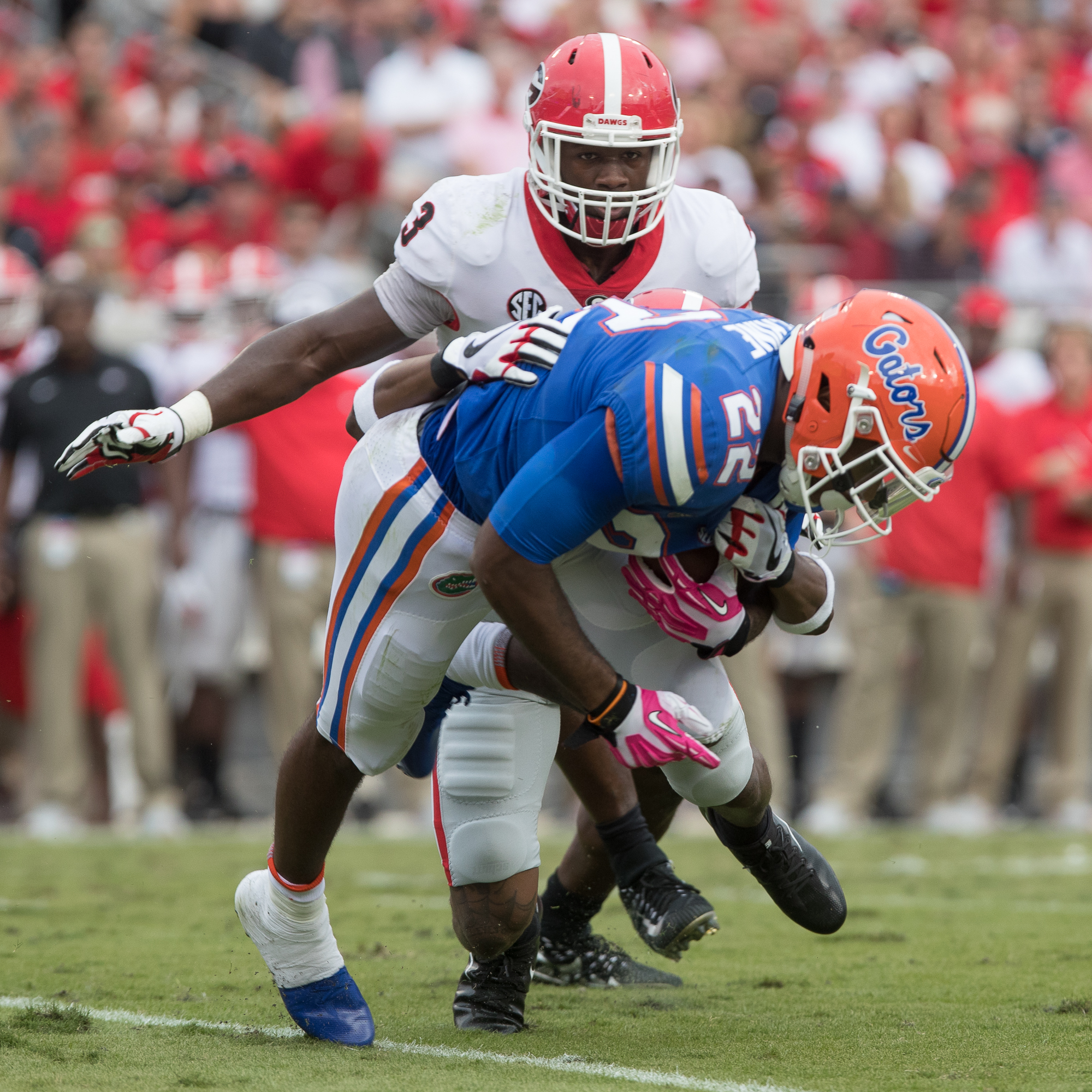 Lamical Perine had 93 yards rushing for Gators./STEVEN MUNCIE