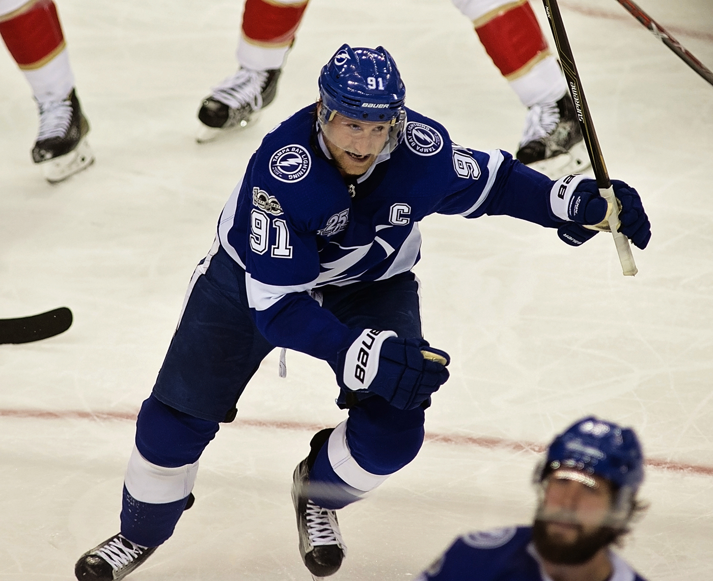Stamkos continues to lead the league in scoring with 28 points./CARMEN MANDATO