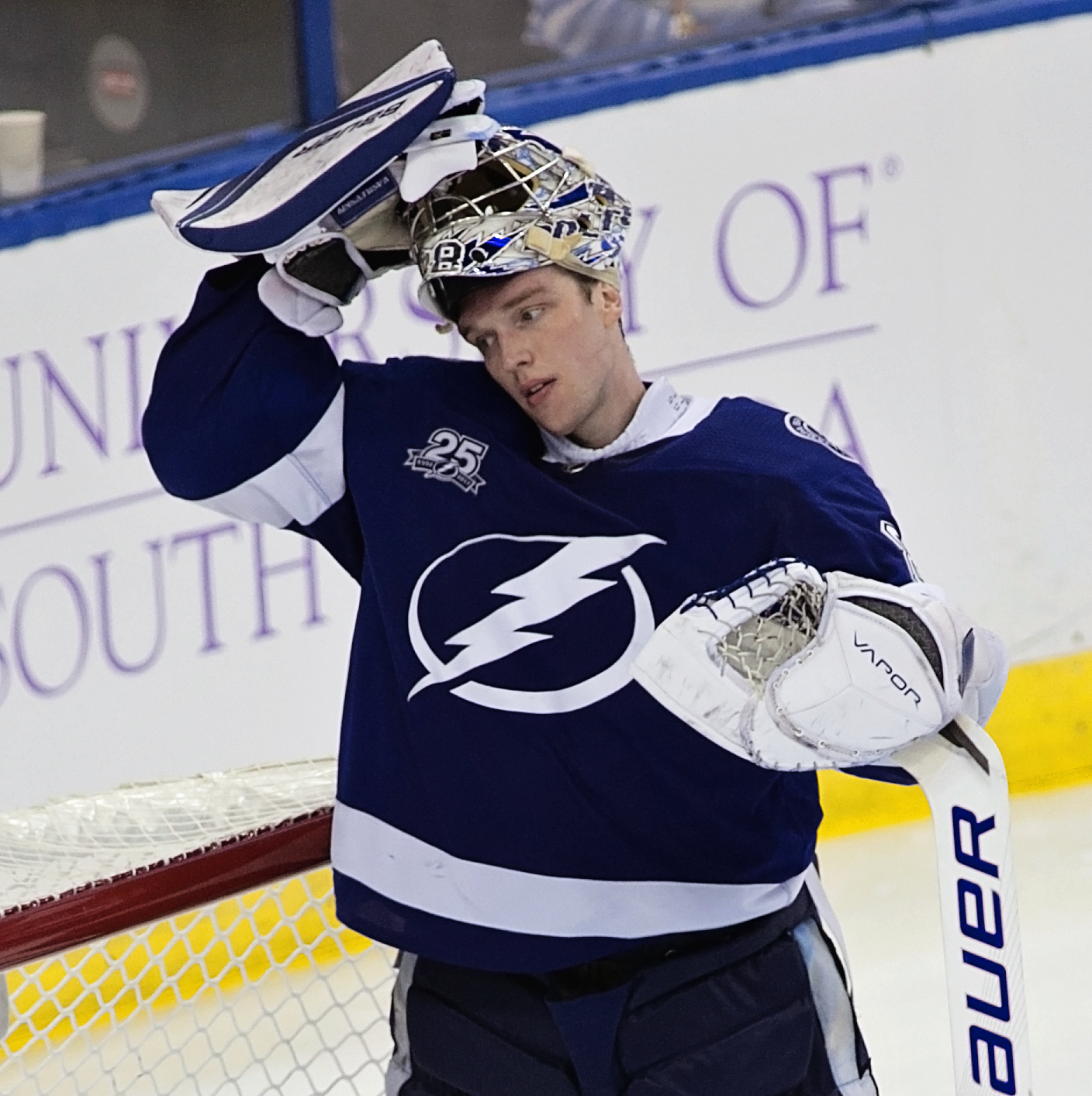 Vasilevskiy has been the Lightning's best player./CARMEN MANDATO