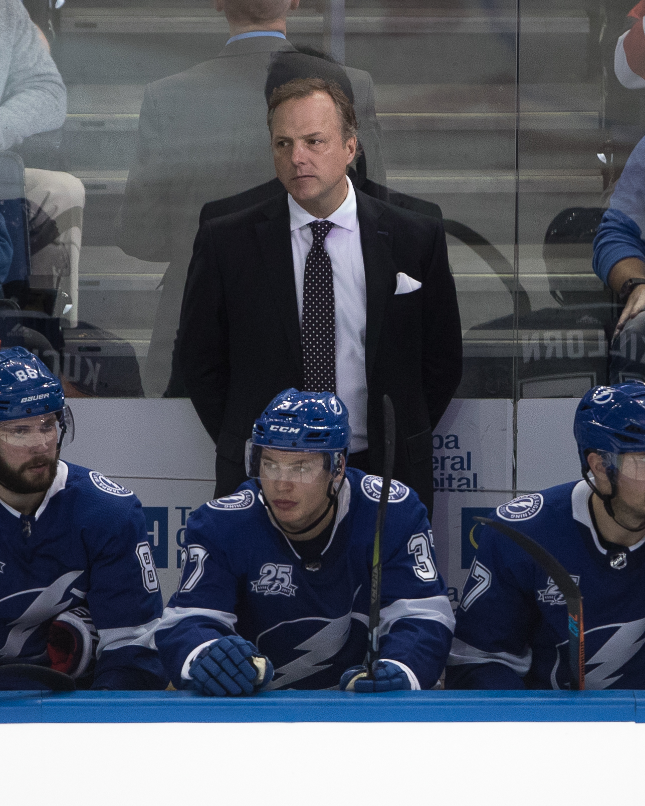 Jon Cooper wasn't happy with what he saw./STEVEN MUNCIE