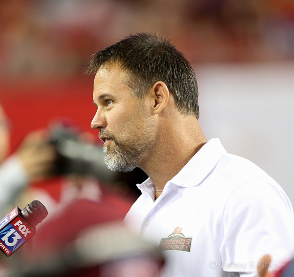Even after all these years, the question is the same: Why not Alstott?/JEFFREY S. KING