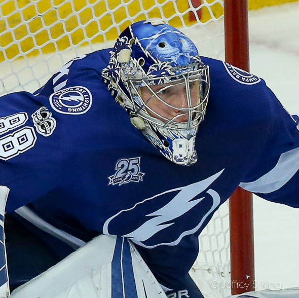 Vasilevskiy has allowed two goals or less in seven of nine games./JEFFREY S. KING