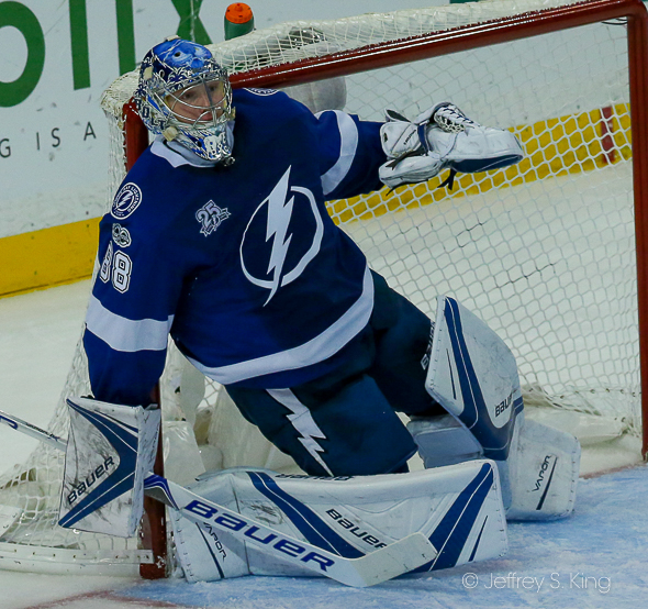 Vasilevskiy leads the NHL in victories./JEFFREY S. KING