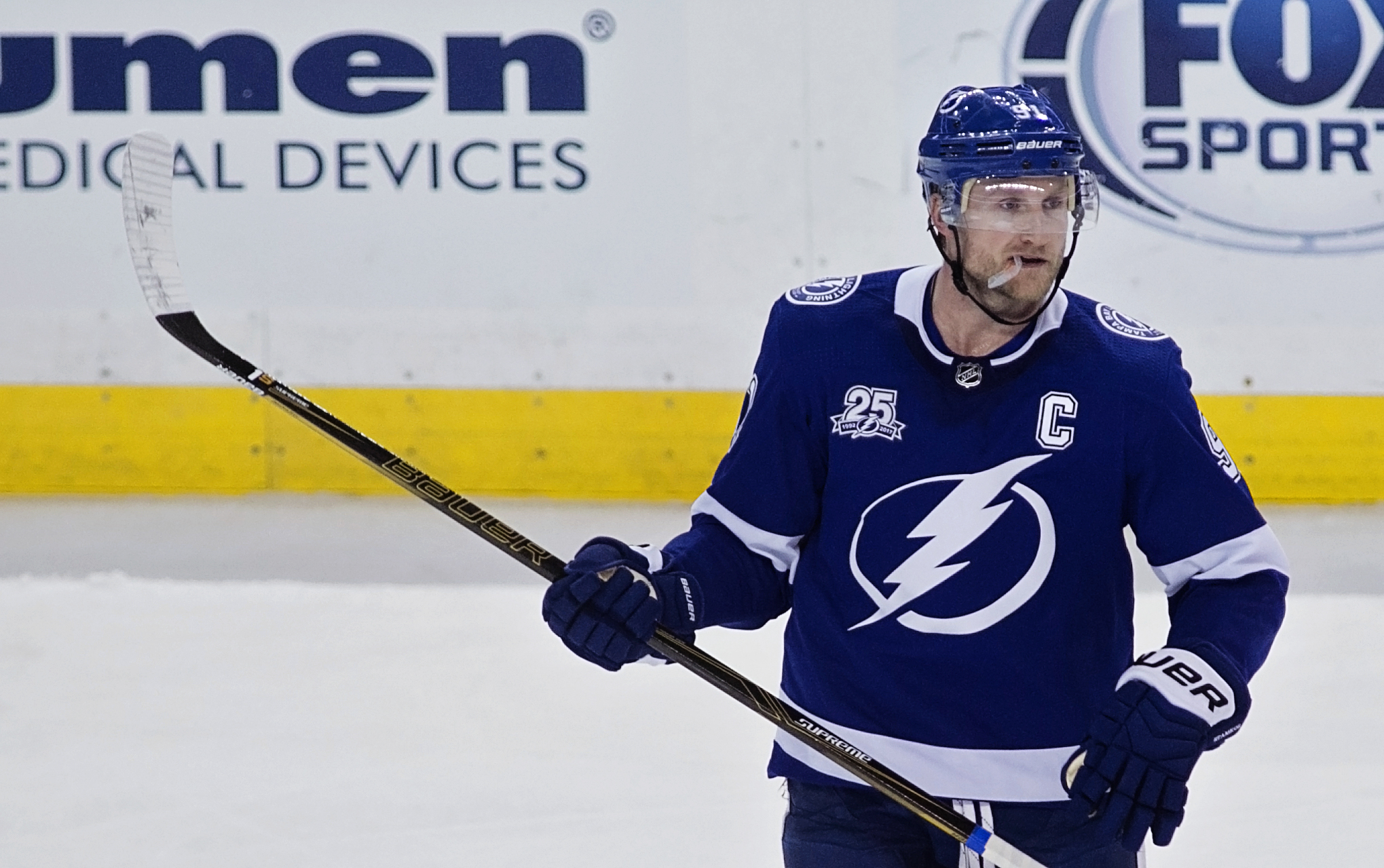 Stamkos scored the tying goal with 2:12 left to play.