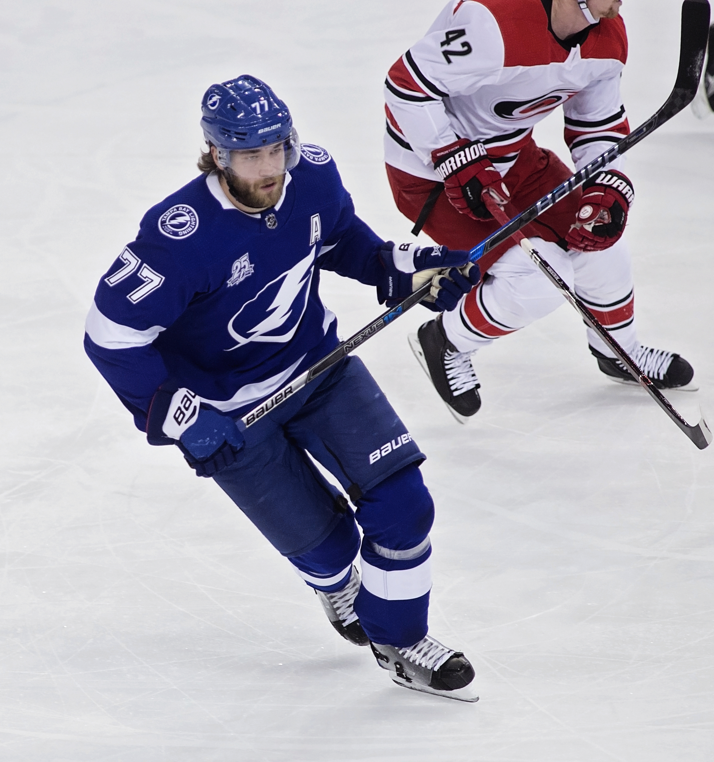 Hedman has led the Lightning's defense all season./CARMEN MANDATO
