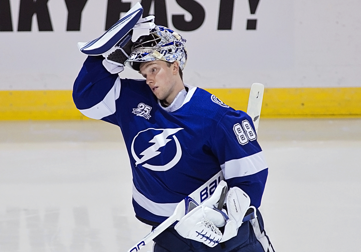 Vasilevskiy stopped 27 of 29 shots for the win./CARMEN MANDATO