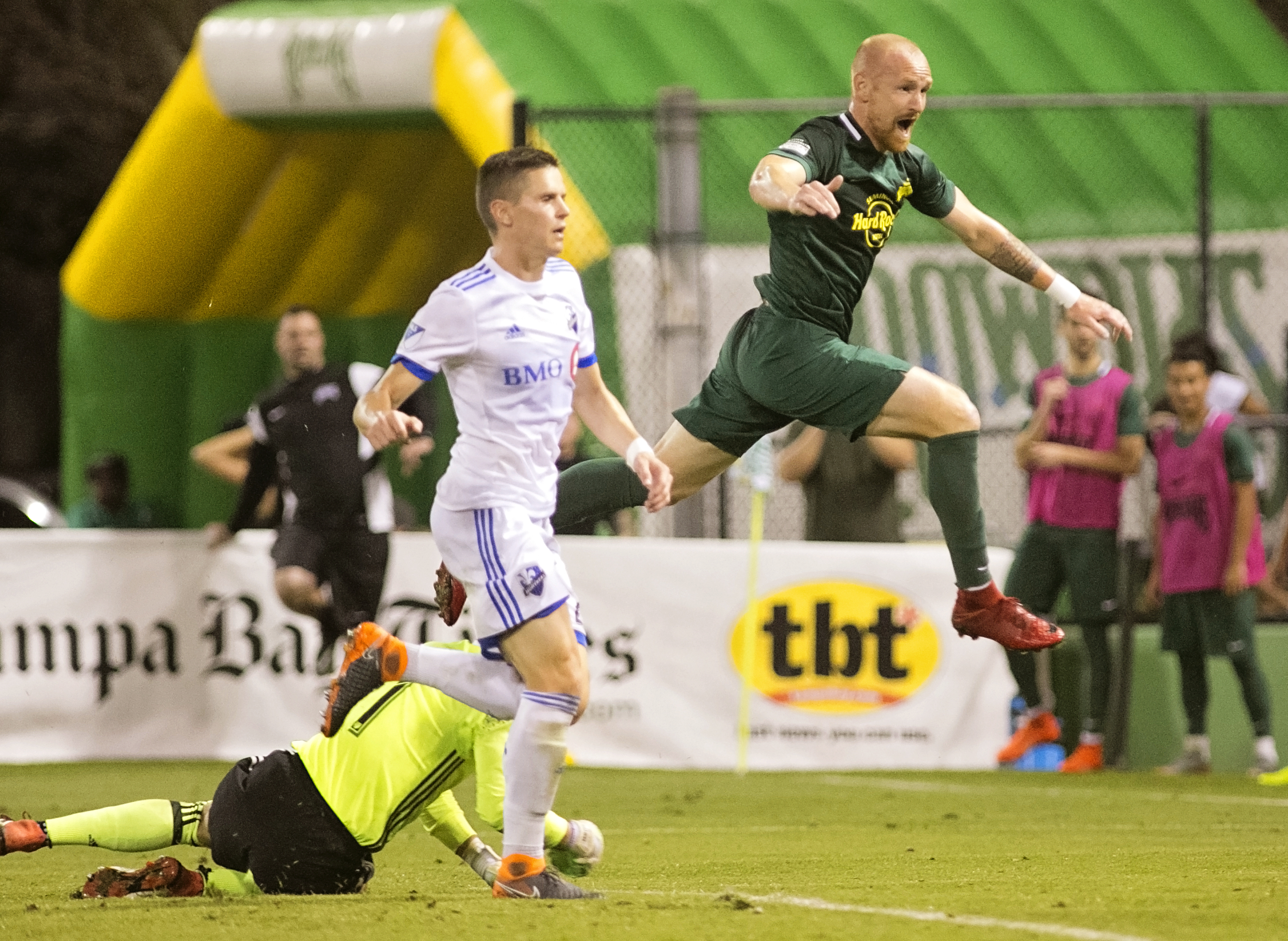Graf's goal was the first of the season for the Rowdies./CARMEN MANDATO