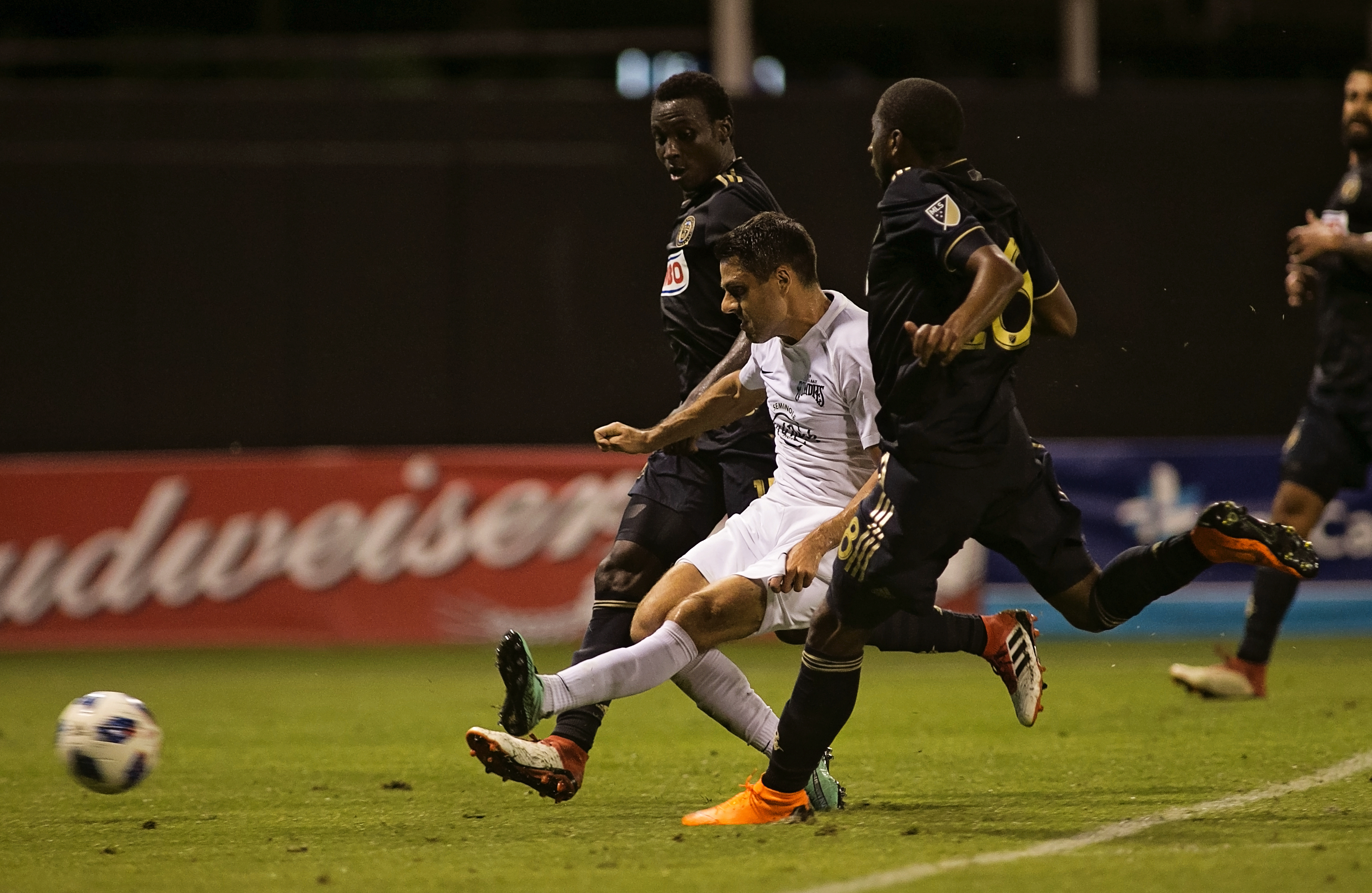 Nanchoff scored the second goal for the Rowdies./CARMEN MANDATO