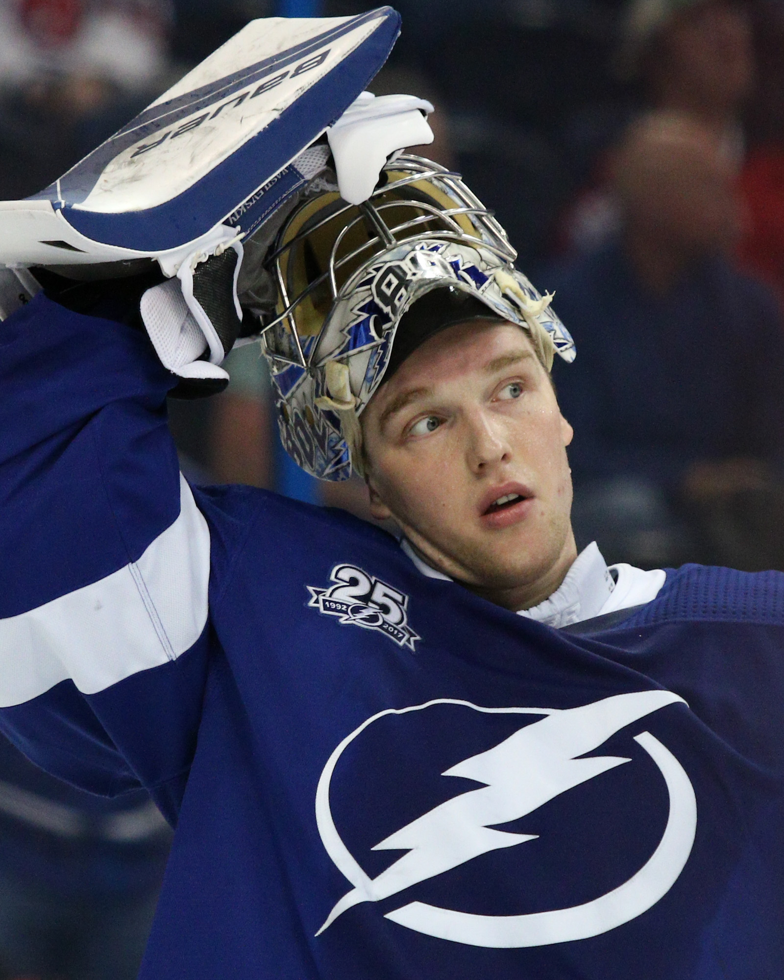 Vasilevskiy is already high on the Lightning's win list./ANDREW J. KRAMER