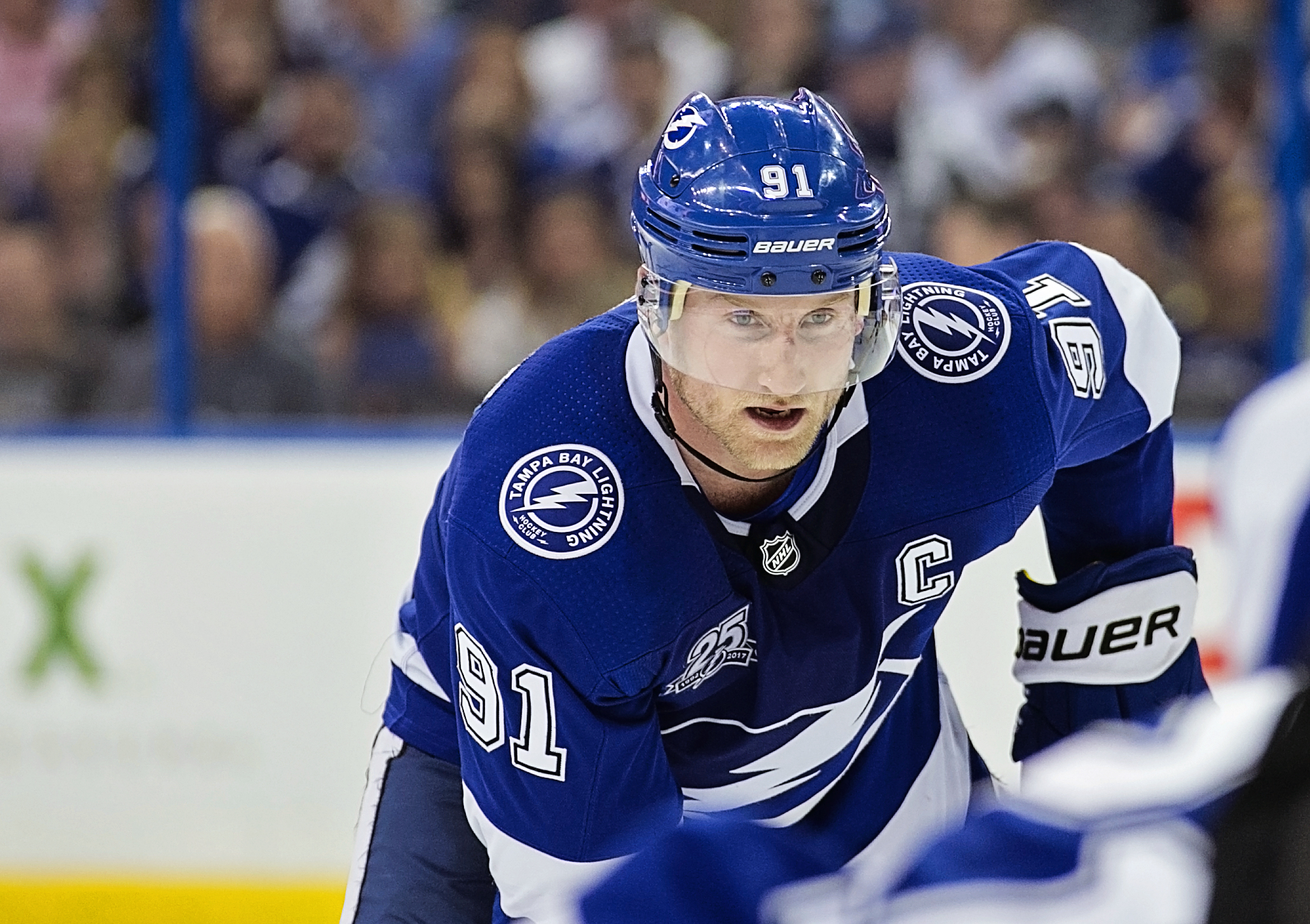 Stamkos scored his 25th goal./CARMEN MANDATO