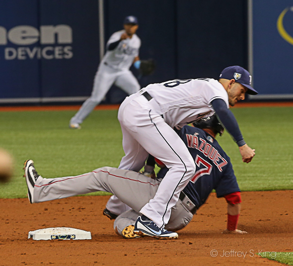 Robertson makes the tag on an attempt steal./JEFFREY S. KING