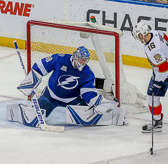 At 23, Vasilevskiy is among the league leaders./JEFFREY S. KING
