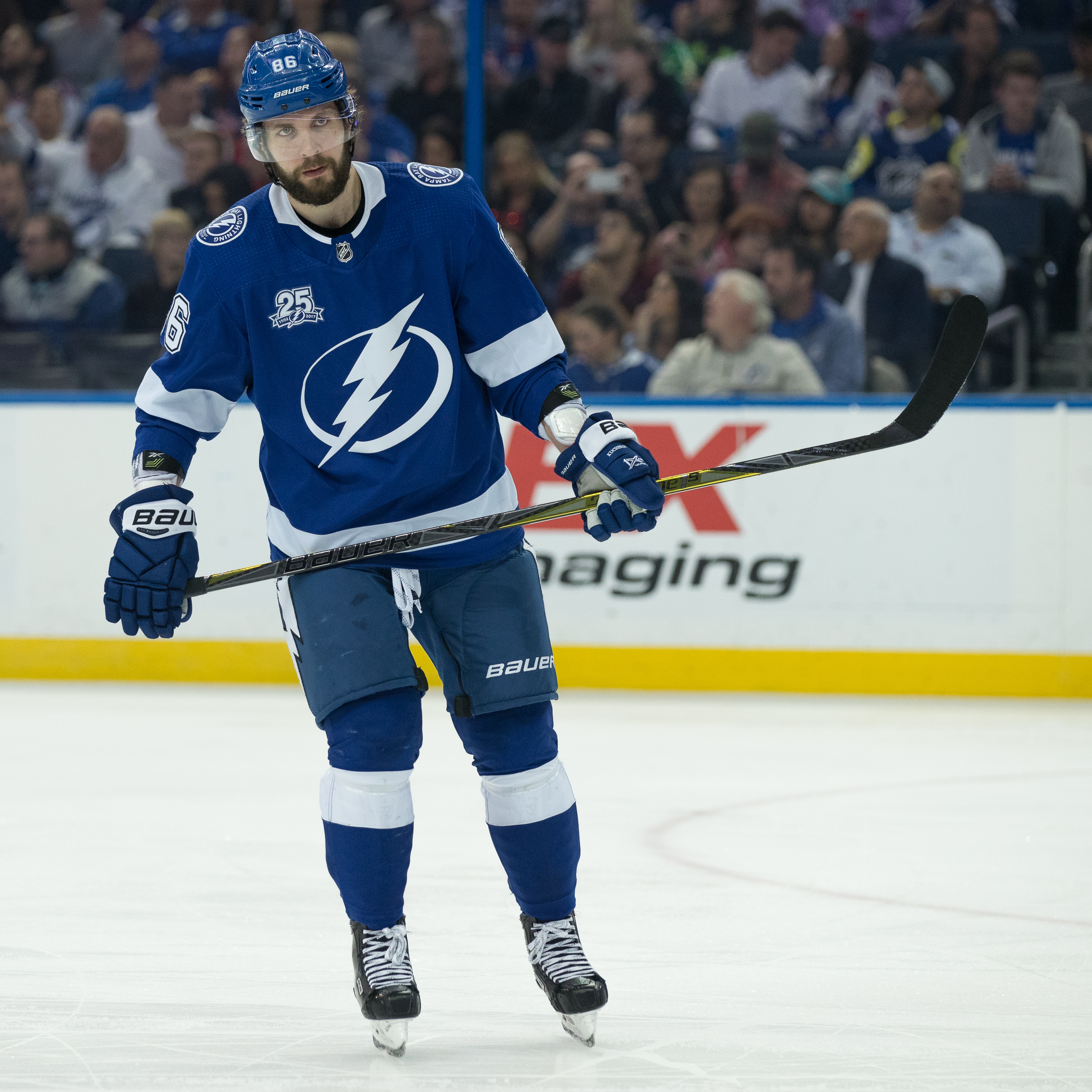 Nikita Kucherov scored his 37th goal of the season./STEVEN MUNCIE