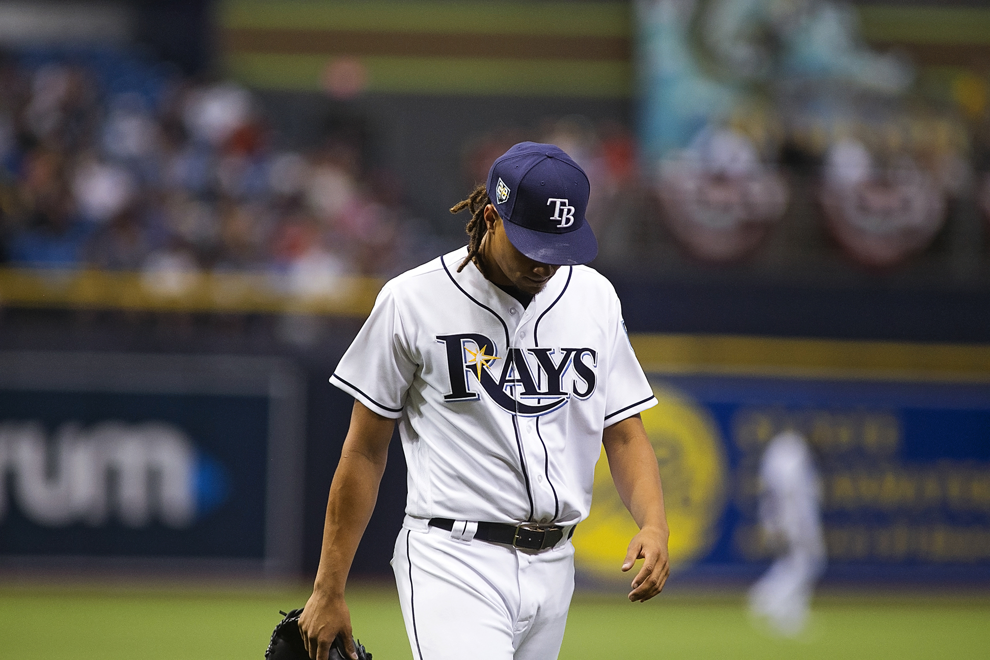 Archer fell to 3-4 on the season for Rays./CARMEN MANDATO