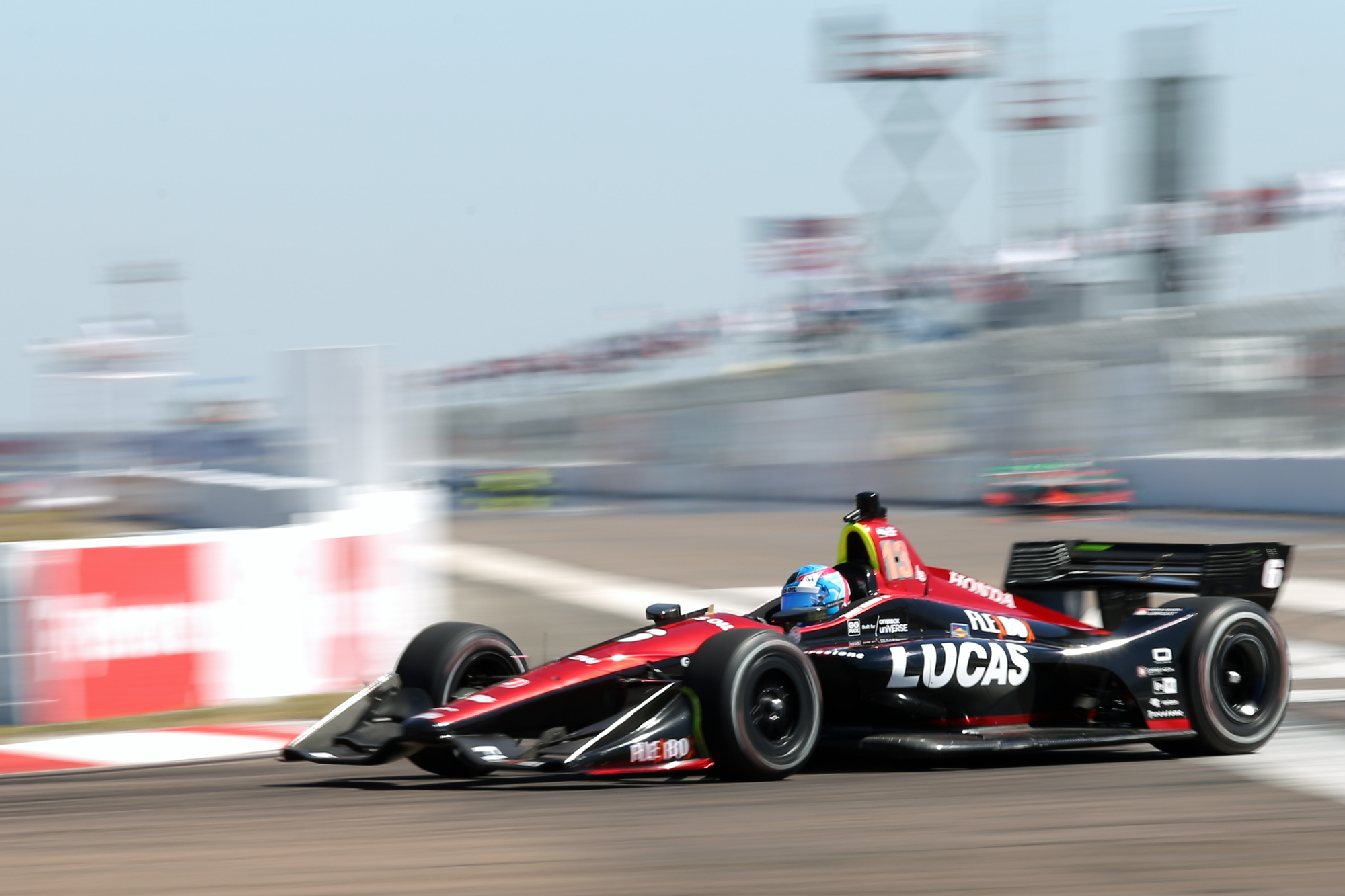 IndyCar rookie #6 Robert Wickens won pole position./ANDREW J. KRAMER