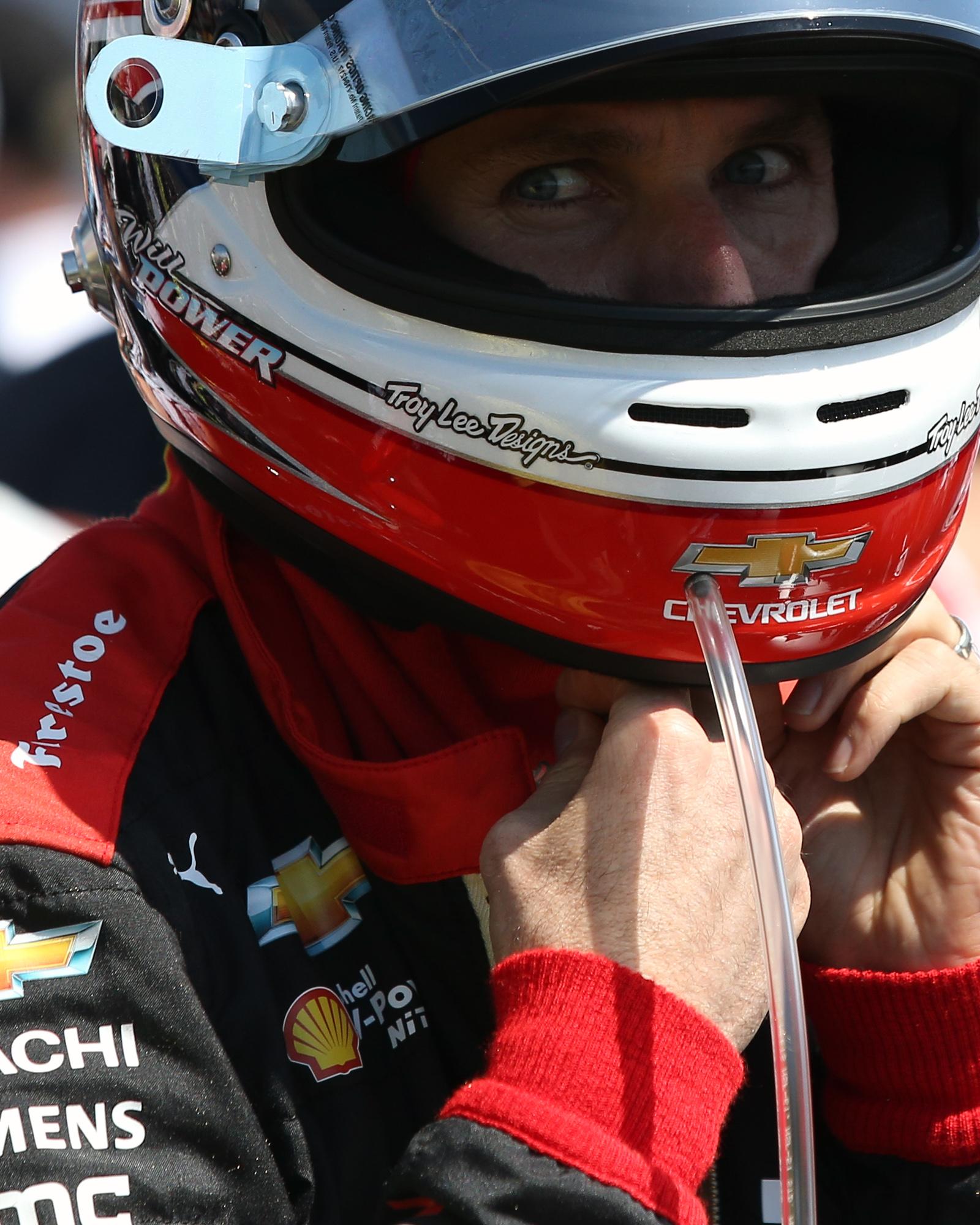 Will Power looks on before the race./ANDREW J. KRAMER