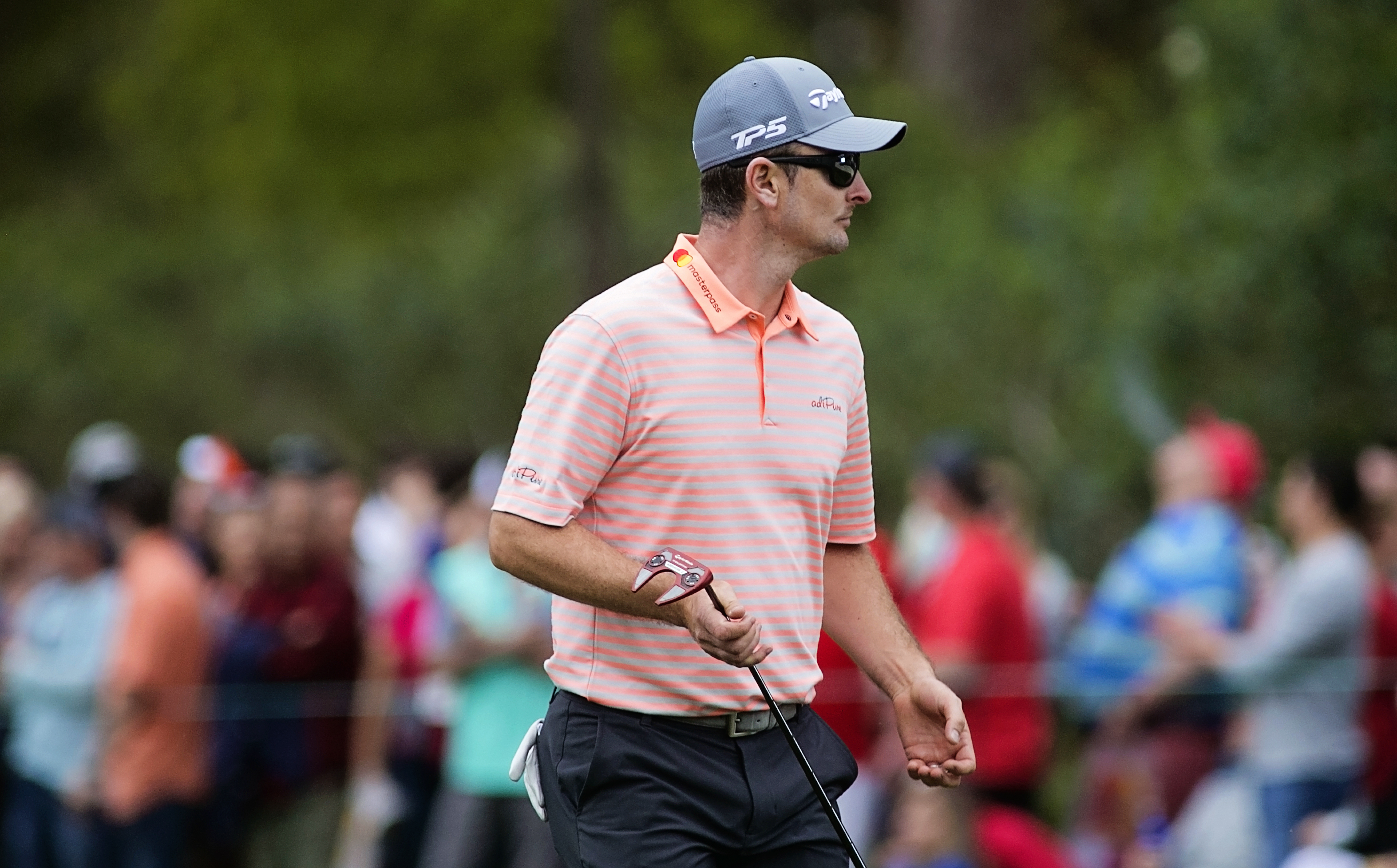 Justin Rose is tied for second, too./CARMEN MANDATO