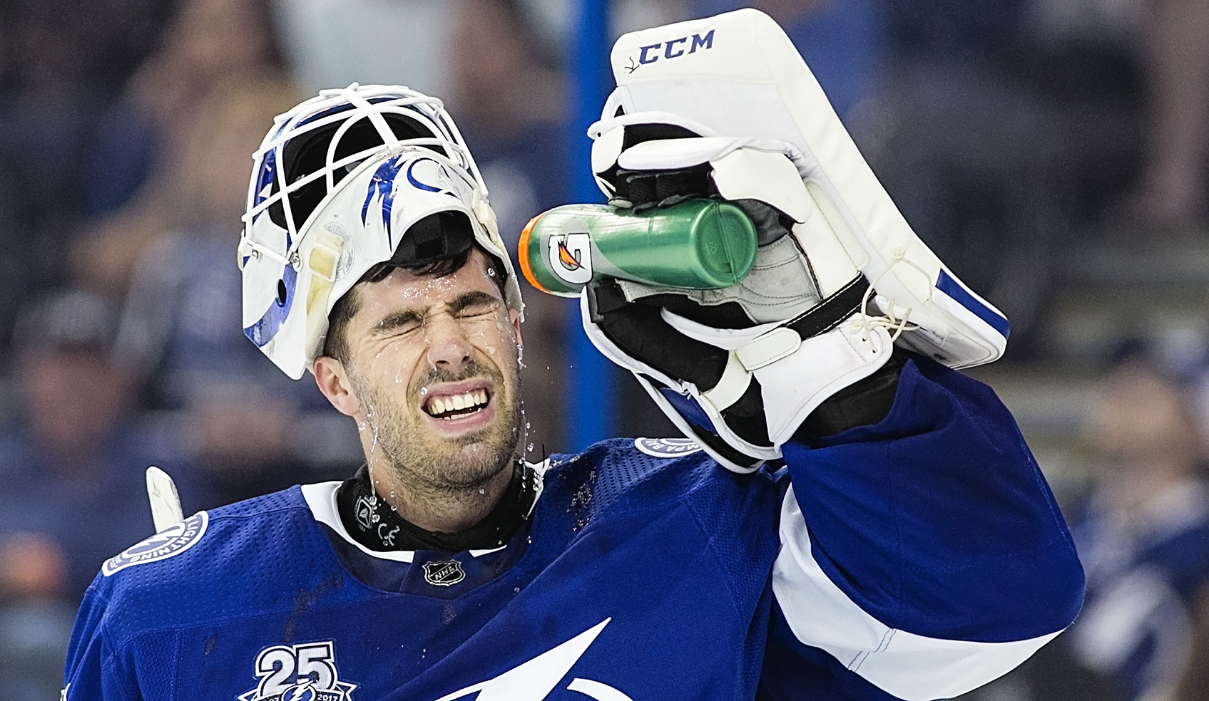 Dominique had 39 saves, but he lost in overtime./JEFFREY S. KING
