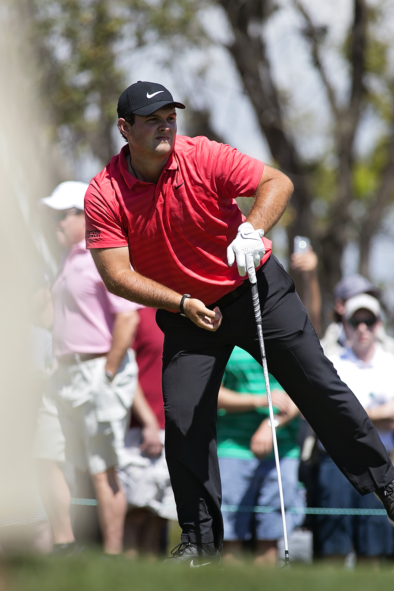 Patrick Reed shot a final-round 68 to get into a tie for second./CARMEN MANDATO