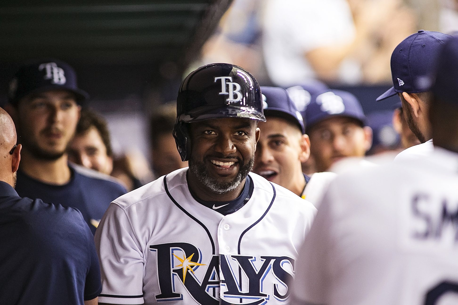 Span's triple made the difference not Rays./CARMEN MANDATO