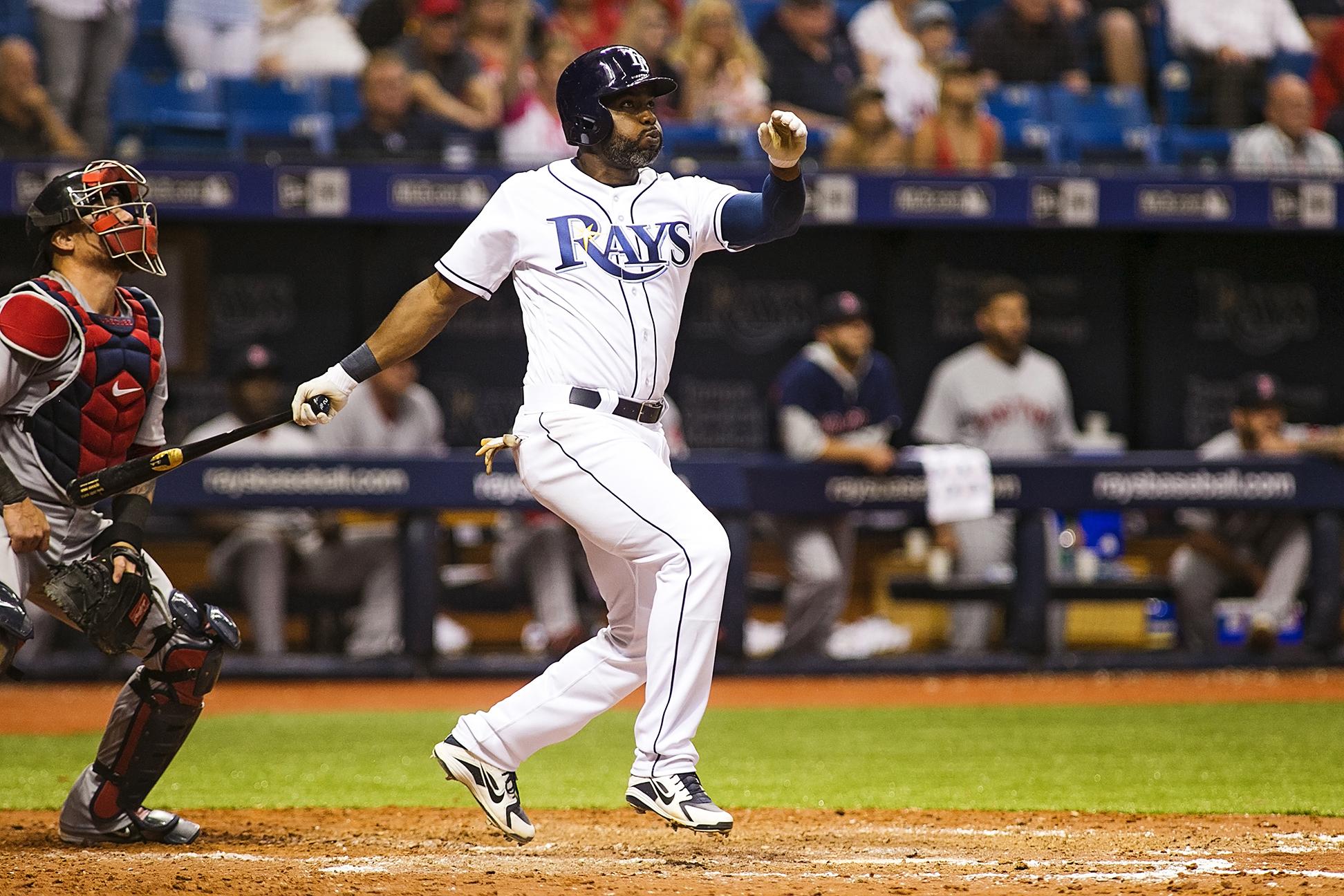 """Span triples on his """"best day in baseball./CARMEN MANDATO"""