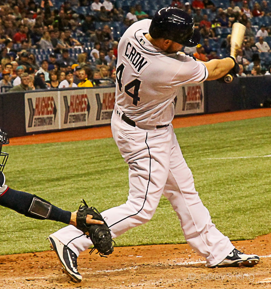 Cron hit two home runs to lead the Rays' victory./JEFFREY S. KING