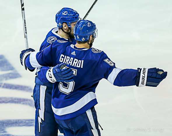 Girardi scored a goal for the Lightning./JEFFREY S. KING