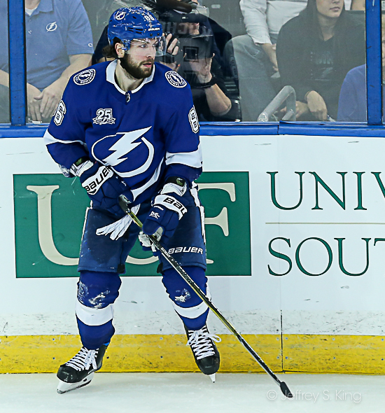 Kucherov scored an empty netter at the end./JEFFREY S. KING