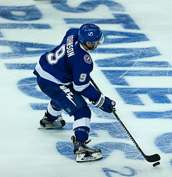 Tyler Johnson has a fine playoff history./JEFFREY S. KING