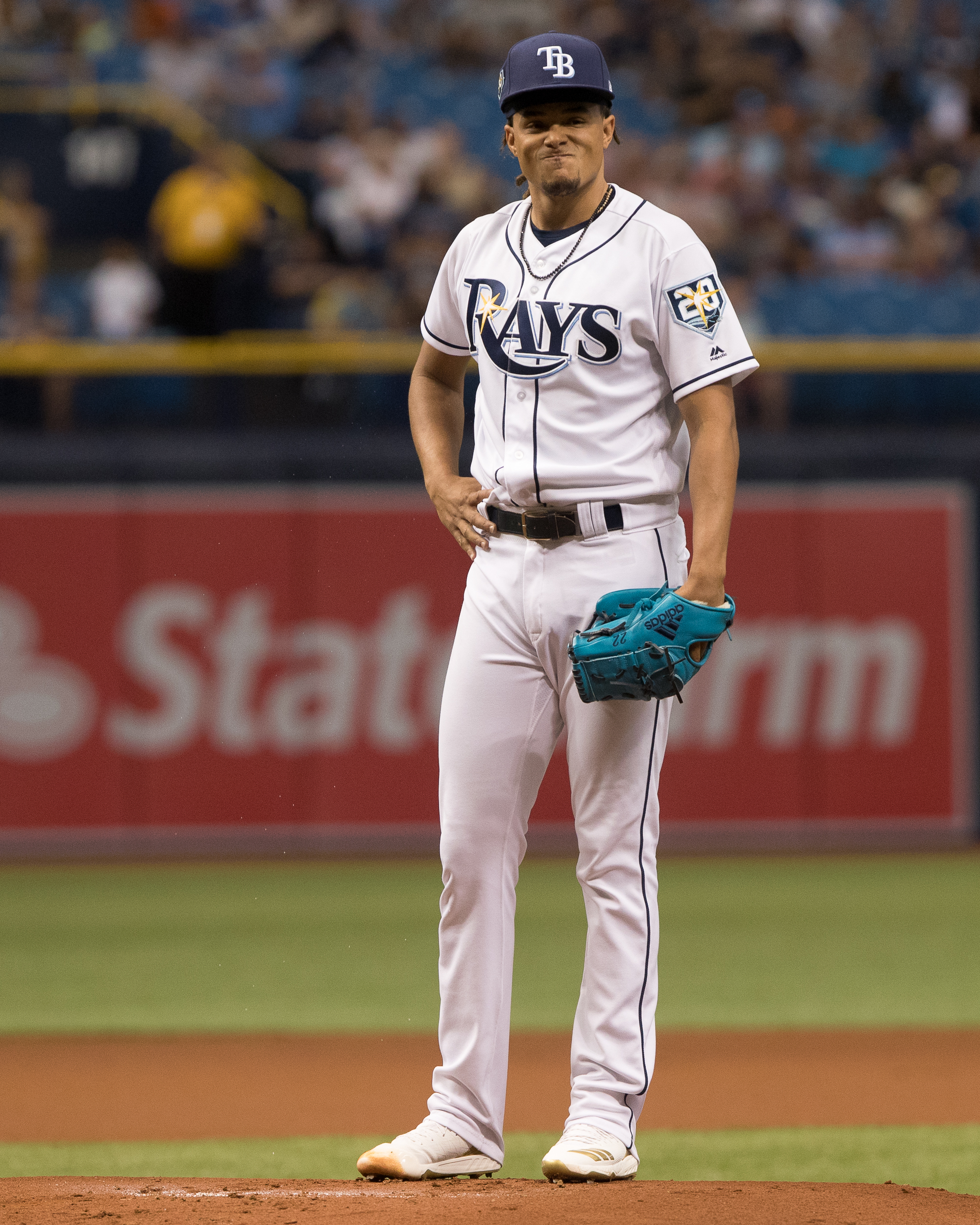 The look on Chris Archer's face says it all./STEVEN MUNCIE