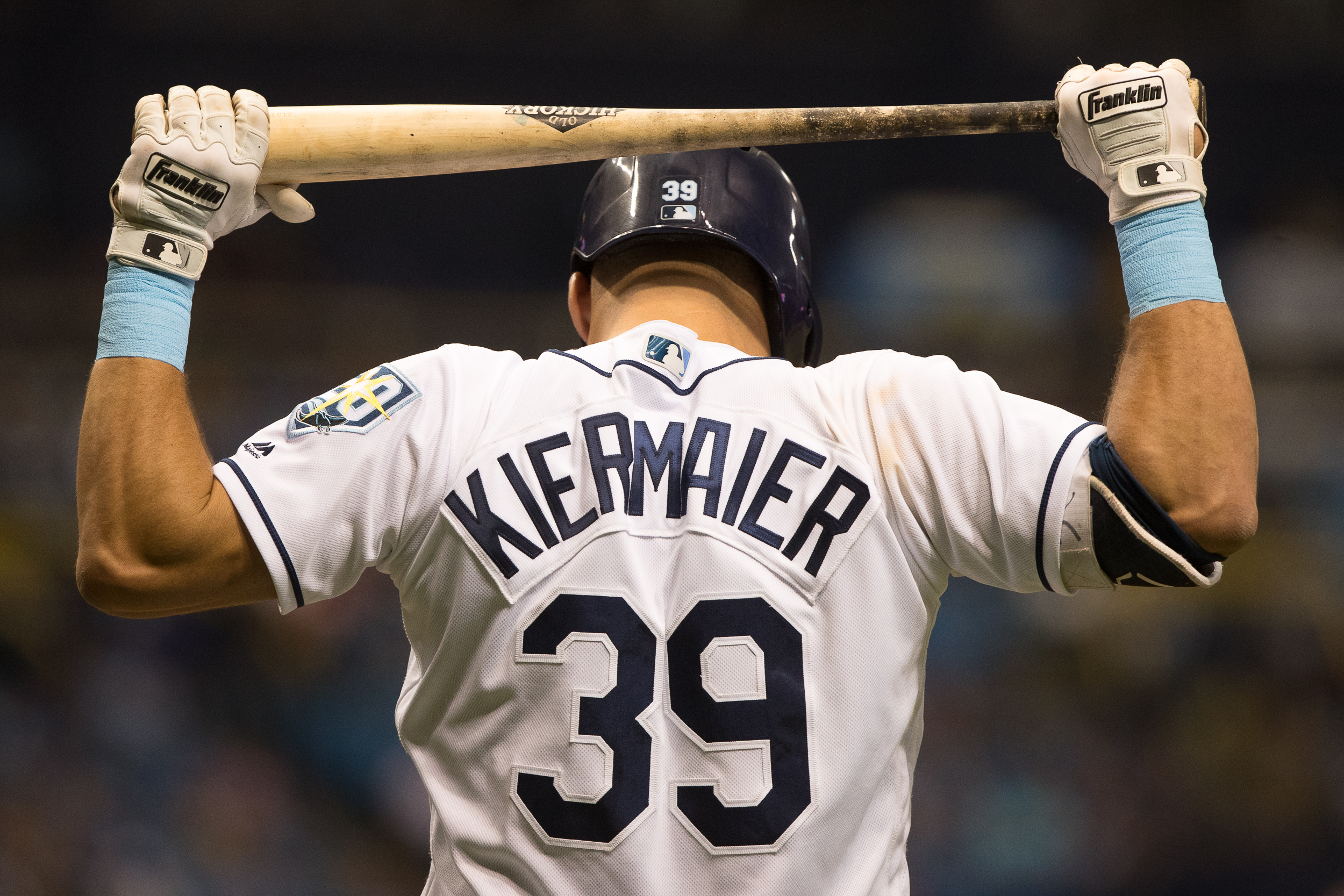 Kevin Kiermaier had two hits to up his average to .143./STEVEN MUNCIE