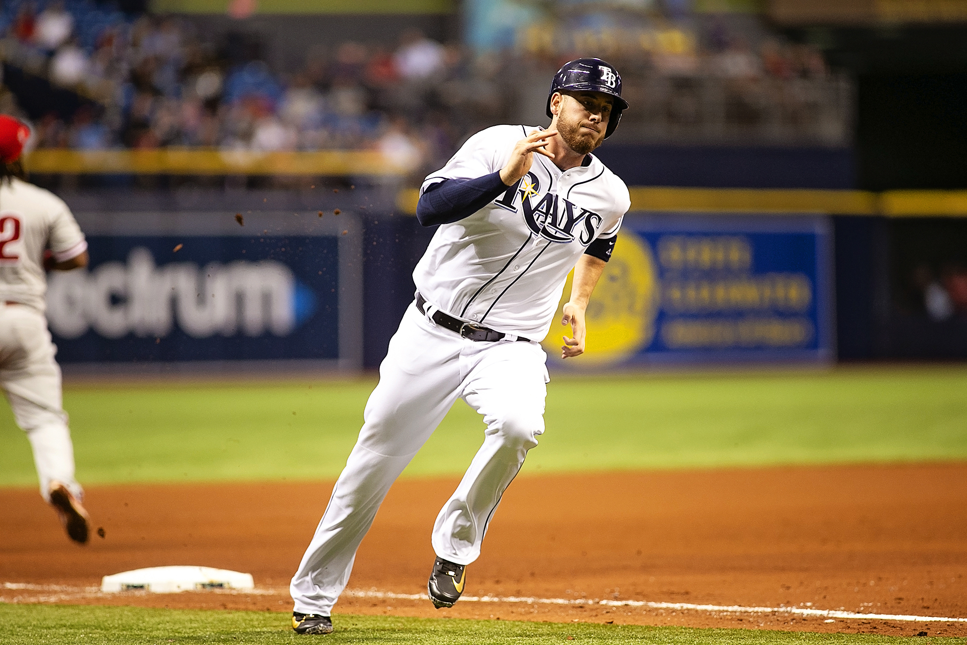 Cron scores in the fourth for the Rays./CARMEN MANDATO