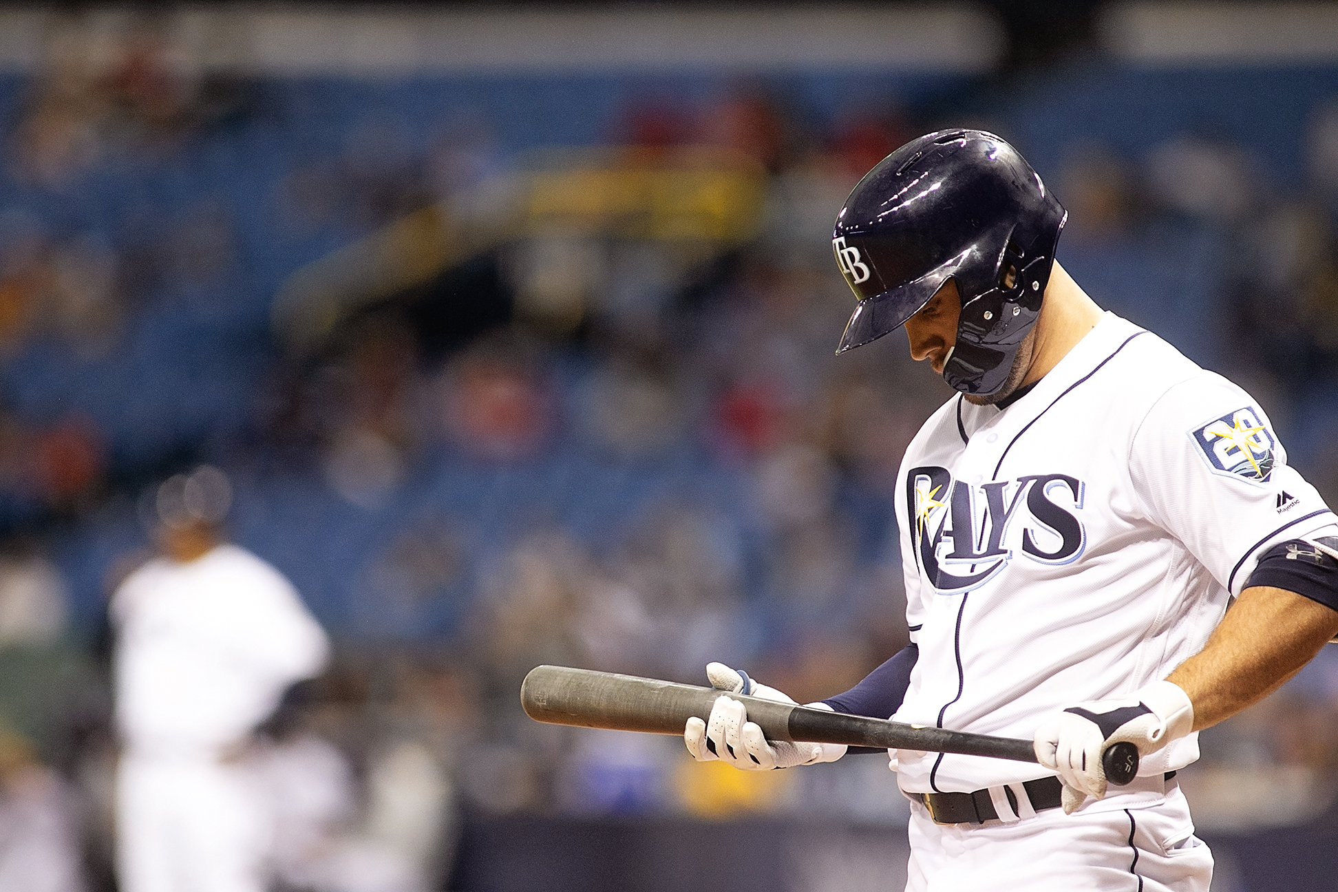 Field had two hits for the Rays./CARMEN MANDATO