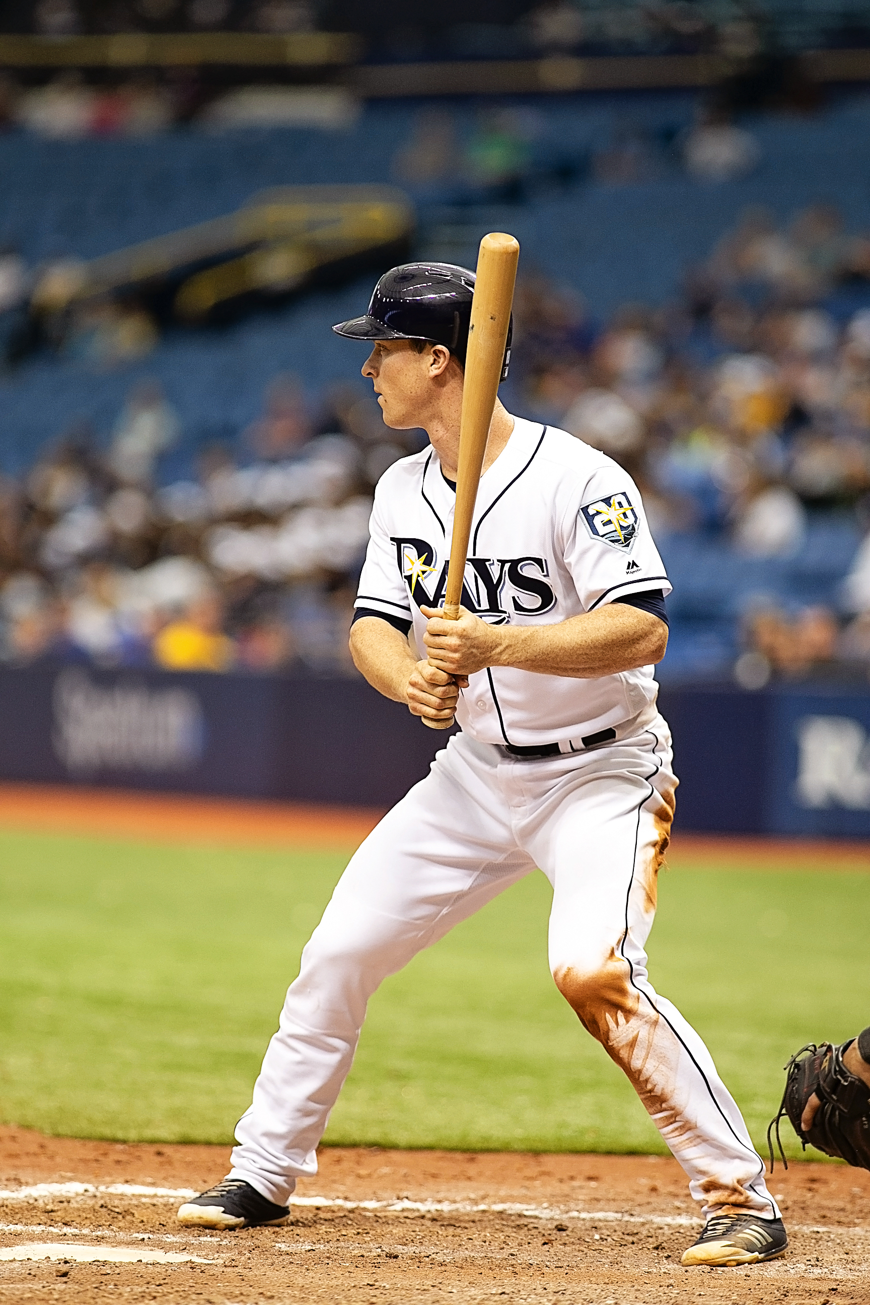 Wendle had a two-run single for the Rays./CARMEN MANDATO