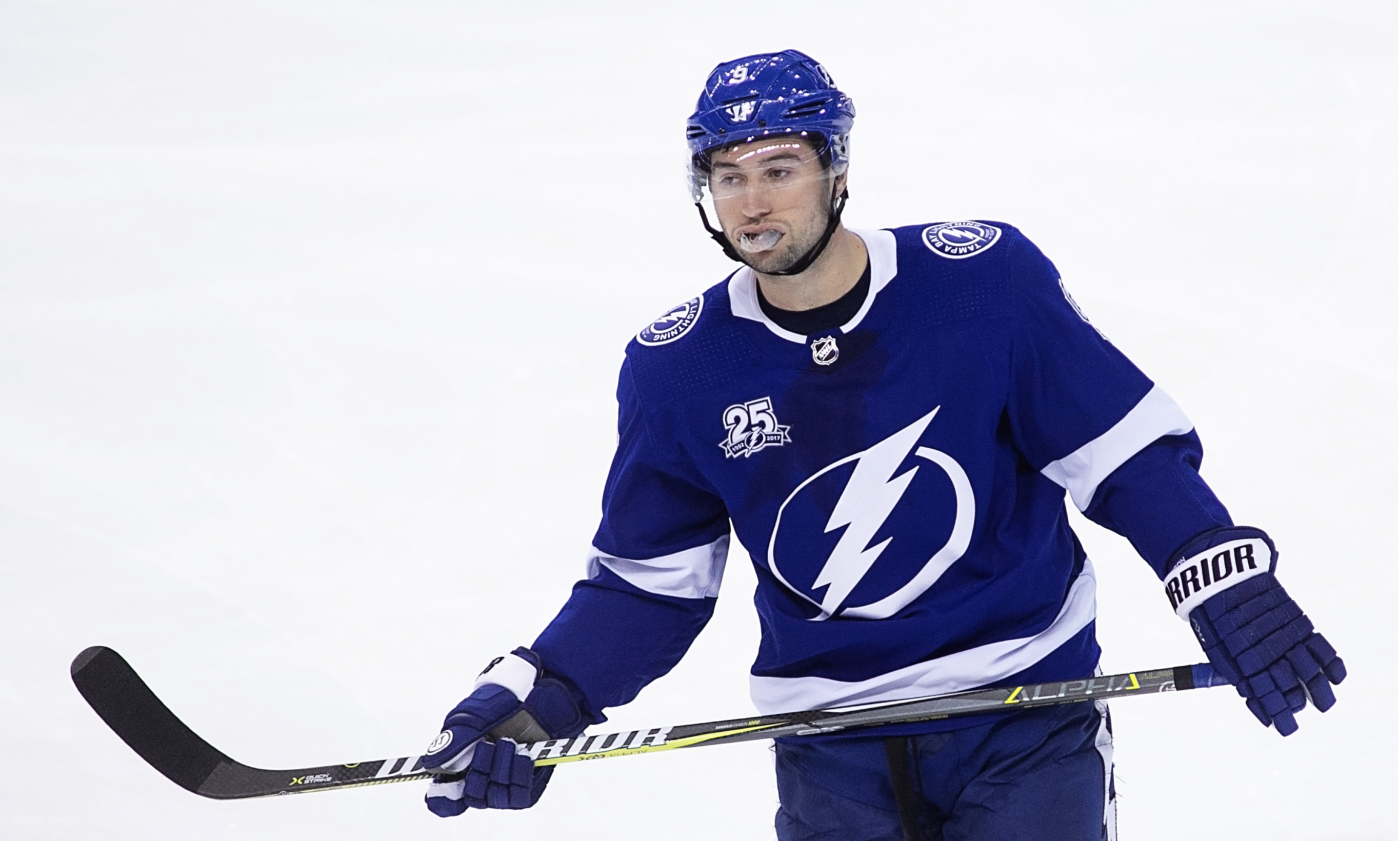 Tyler Johnson scored his second goal in two games./CARMEN MANDATO