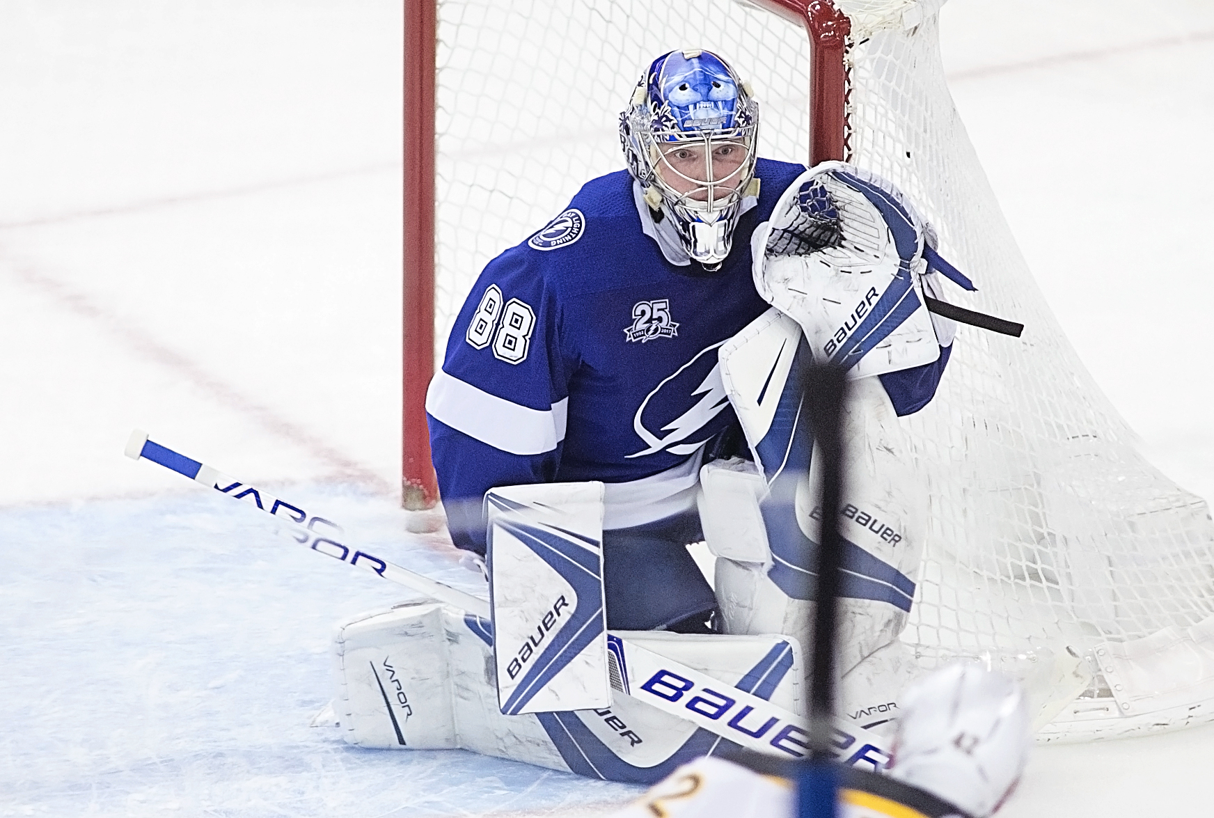 Vasilevskiy kept the Bruins at bay./CARMEN MANDATO