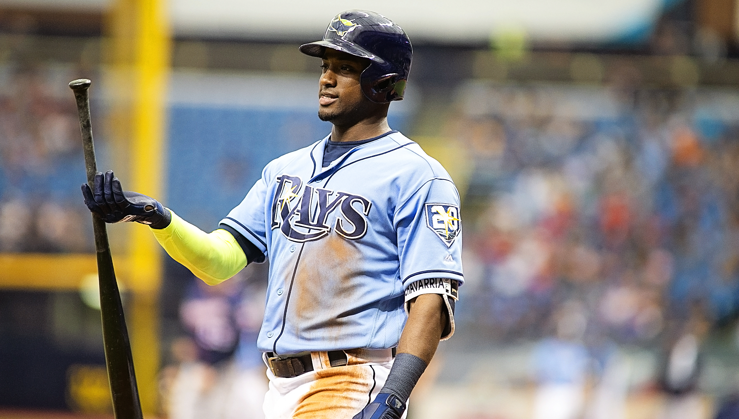 Hechavarria hit a three-run homer to give the Rays a 6-3 lead./CARMEN MANDATO