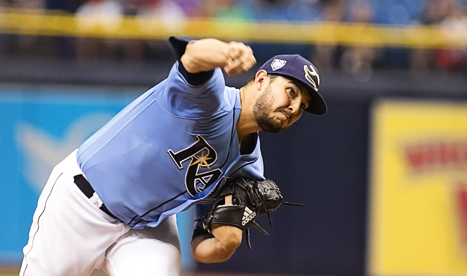 Faria lasted only four innings for the Rays./CRMON MANDATO