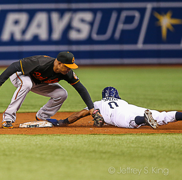 #0 MAllex Smith caught on the delayed steal (1 of 1)