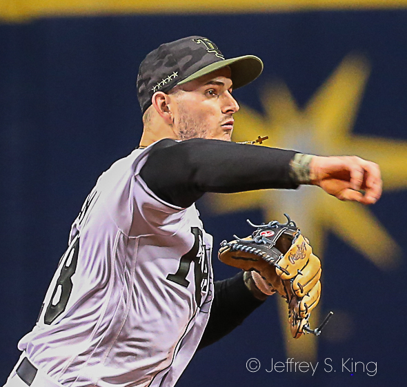 Robertson had three hits and a couple of defensive gems./JEFFREY S. KING
