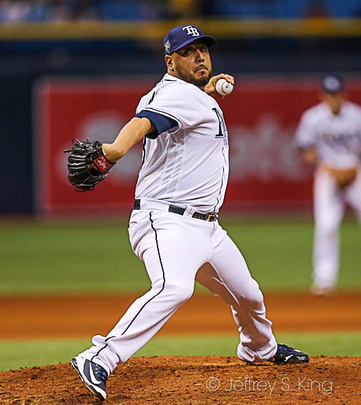 Nuno pitched well in the Rays' victory./JEFFREY S. KING