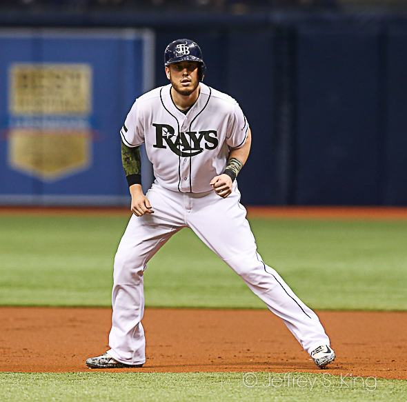 Cron had a two-run double for the Rays./JEFFREY S. KING
