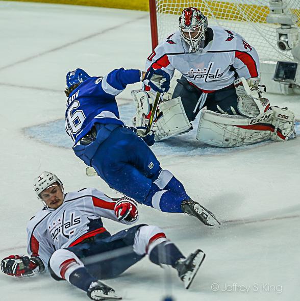 Kucherov crashes the ice for the Lightning.../JEFFREY KING
