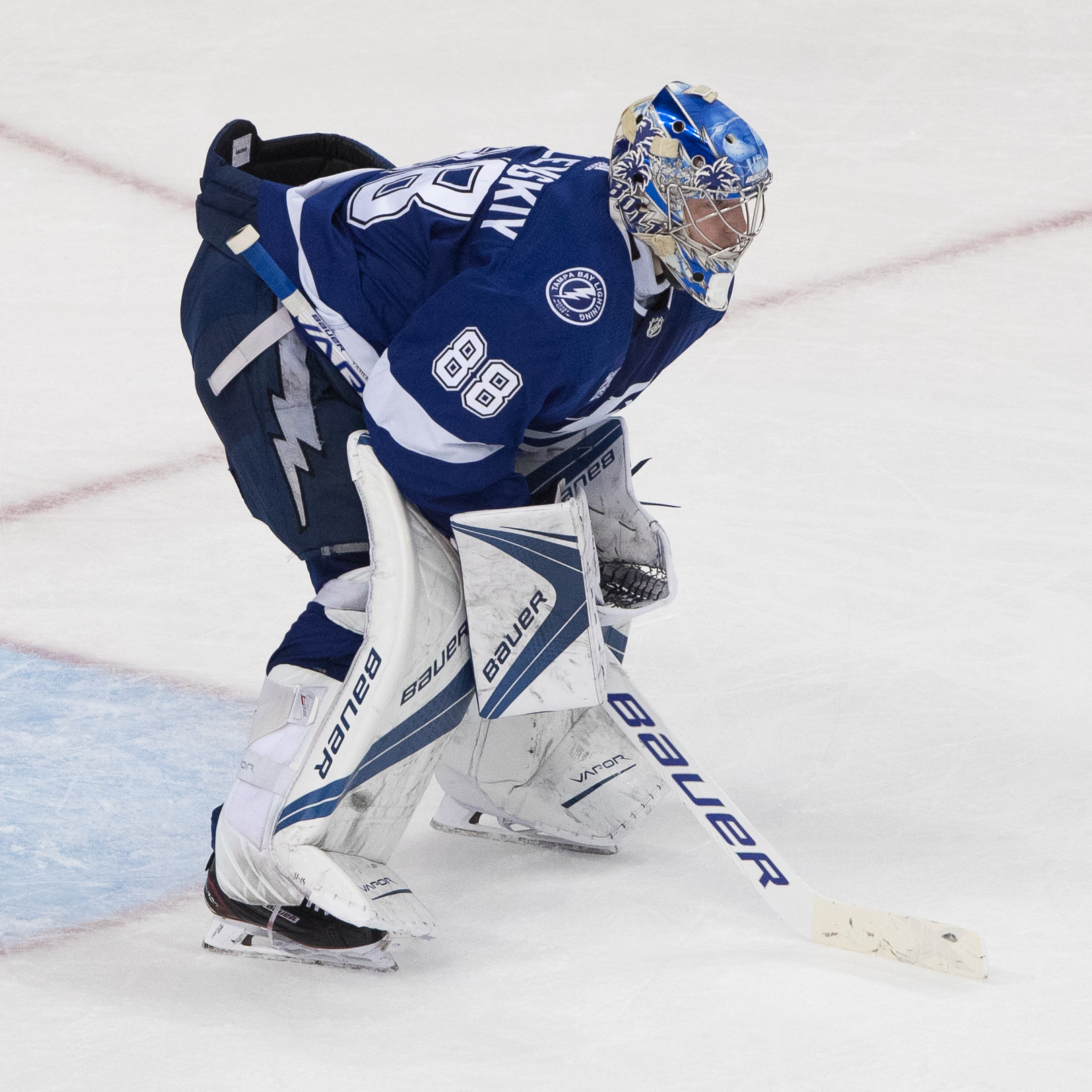 Andrei Vasilevskiy played well again./STEVEN MUNCIE