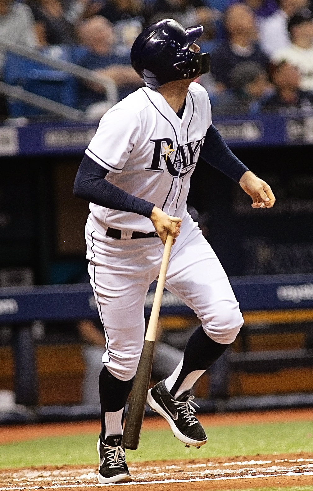 Miller had three hits for the Rays./CARMEN MANDATO